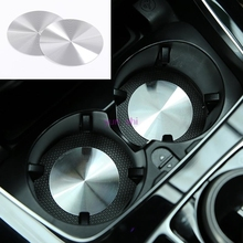 2pcs AMG style Metal Car Cup Holder Cover Mat Trim Decoration For Mercedes benz A B C E CLA GLA GLC Class W204 W205 W212 W213 et(China)