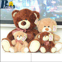 "1 Pcs 16"" 40cm Love Bear Plush Toy Teddy Bears Two Colors High Quality Selling Toys For Kids Free Shipping"