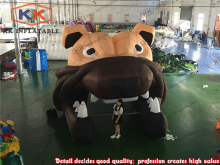 Inflatable bull dog Tunnel Inflatable football helmet tunnel(China)