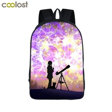 Galaxy Backpack Kid School Bags for Teenagers Men Travel Bags Universe Laptop Backpack Women Kawaii mochila Girls Back to School(China)