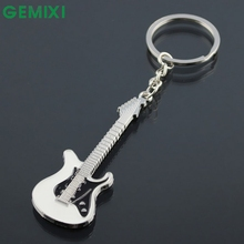 Starry-Styling New Fashion Guitar Keychain For Bag Handbag Key Ring Car Key Pendant Amazing Aug Hot Selling