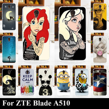 For ZTE Blade A510 High Quality Transpatent Soft Silicone tpu Color Paint Case For ZTE Blade A510 Mobile Phone Cover Case