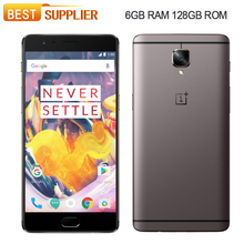 "Oneplus 3T One plus Three A3010 4G LTE Mobile Phone Snapdragon 821 5.5"" Android 6.0 6GB RAM 128GB ROM 16.0MP Fingerprint NFC"