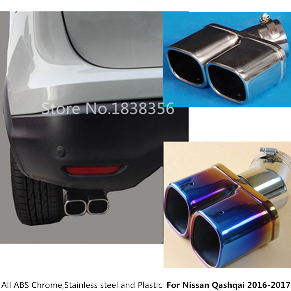 Stainless Exterior Rear Exhaust Muffler Parts For Nissan Kicks 2016-2018 Durable