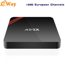 Europe France Russian Swedish Dutch IPTV Box A95X Media Player Android 6.0 4k TV Box Europe CA UK IPTV Subscription Smart TV Box(China)