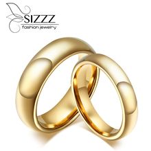 Tungsten Carbide Wedding Rings For Couple Gold-Color For Women Men Vintage Lover's Jewelry