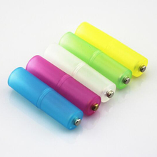 Centechia 4Pcs Cell AAA to AA Size Battery Adaptor Converter Case Holder Random Color Box