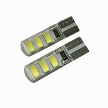 10pcs Waterproof T10 led bulb W5W 5630 6Led Car Led Light CANBUS 6SMD 5730 t10 silicone w5w Turn light Reverse License Plate