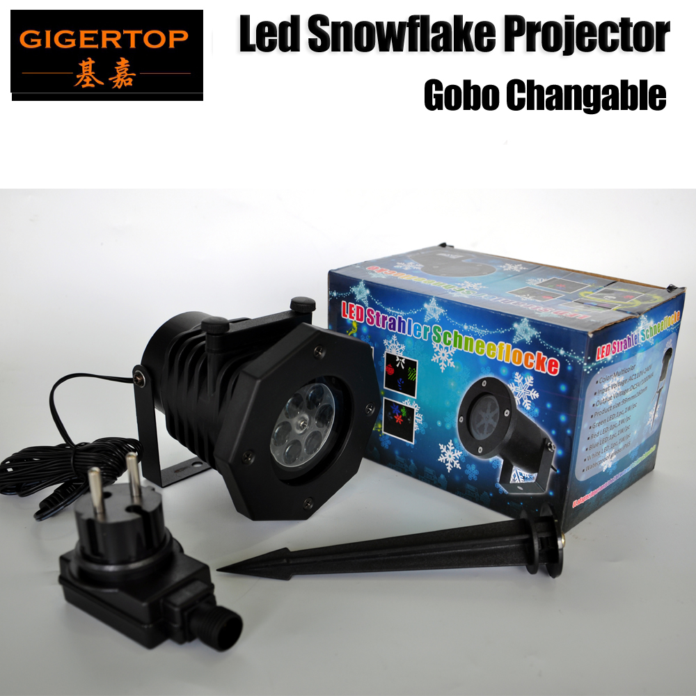 TIPTOP Freeshipping 5W Mini Outdoor Led Snow Gobo Running Ground Light US/EU Power Plug Cable with Aluminum Pod China Supplier<br>