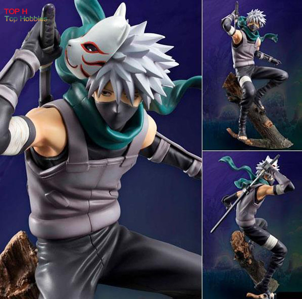 MegaHouse GEM Anime Naruto Hatake Kakashi PVC Action Figure Toy Collectible 24 CM Motherland Edition<br>