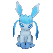 25cm Anime Pocket Monster Plush Toy Cartoon Vaporeon Glaceon Stuffed Doll Kids Toys Q Version Sweet Cute Plush Toy Birthday Gift