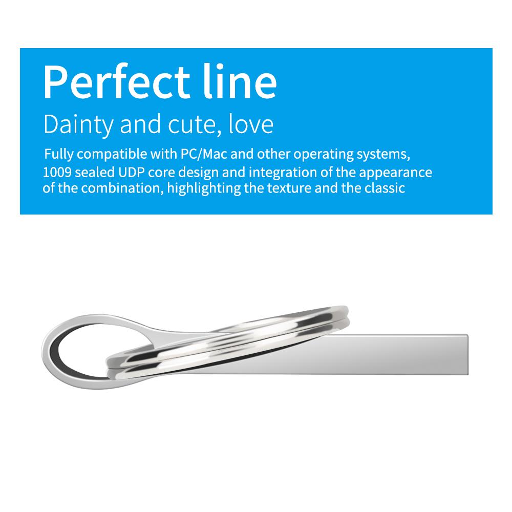 usb flash drive 3.0 silver metal pendrive 128 GB 64 GB 32 GB 16 GB 8 GB 4GB usb memory stick Keychain pen drive Free custom LOGO (12)