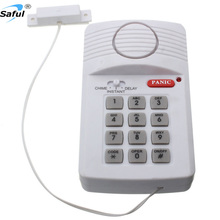Hot sale 3 settings security keypad door alarm system wireless door/window sensor detector burglar alarm with panic button