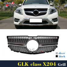 Mercedes X204 Diamonds Grill For Benz GLK Class X204 GLK250 GLK300 2012 - 2014 Front bumper Grille