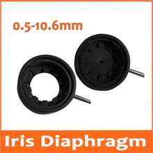 0.5-10.6MM Amplifying Diameter Zoom Optical Iris Diaphragm Aperture Condenser 10 Blades for Digital Camera Microscope Adapter