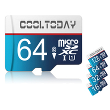 BLUE Micro SD Card 128GB 64GB 32GB 16GB Class 10 Memory Card MicroSD SDXC TF Card 8GB 4GB Mini SD Card 16gb memory stick pro duo(China)