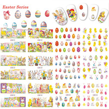 12 Designs Easter Series Water Transfer Sticker Nail Art Decals Happy Easter Egg Bunny for Nails Tips DIY Manicure TRBN541-552