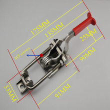 Holding capacity 350KG Adjustable 90 Degree Corner Hasp Fastener, Toggle Latch, Hasp Catch - Trailer Industrial(China)