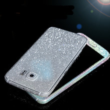 Bling Glitter Shiny Crystal Diamond Full Body Front and Back Wrap Decal Film Sticker Skin For Samsung Galaxy S6 G9200