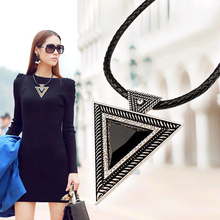 Buy Tomtosh New 2017 Hot Pendant Necklace Fashion Chokers Statement Necklaces Triangle Pendants Rope Chain Gift Party for $1.99 in AliExpress store
