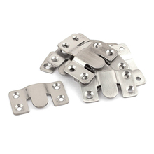 Hot Sale Furniture Sectional Interlock Style Sofa Connector 10pcs Silver Tone