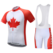 2017 New Flag Canada Cycling Jersey Mtb Jerseys Red Bike Clothes Breathable Bicycle Shirt Cycling Clothing(China)