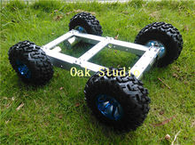 C37 4WD Car, Powerful Motor, Aluminium Alloy Chassis,130mm Big Tyre/Wheel, for DIY Smart car, Robot Competition