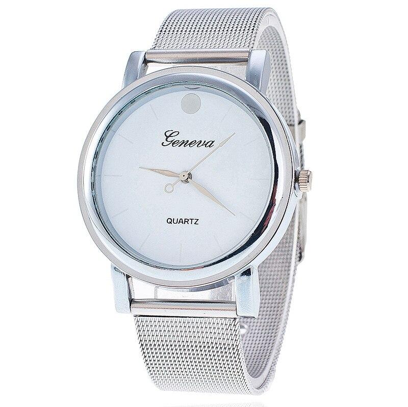 New Fashion Stainless Steel Silver Band Geneva Watch Casual Women Wristwatch Luxury Quartz Watches Relogio Feminino Gift 1901<br><br>Aliexpress