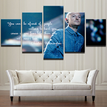 Modern Home Decor Wall Art Frame Chester Bennington Poster HD Printed Frontman Painting 5 Pieces Linkin Park Canvas Art Pictures