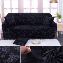 Fashion thickened velvet jacquard sofa cover full cover stretch sofa cover anti-skid embossed combination sofa cover(China)