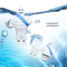 Real capacity Cartoon sitting Michelin lovely USB Flash Drive 4GB 8GB 16GB 32GB 64GB Pendrive USB2.0 Memory stick u disk gift