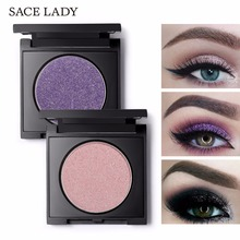 SACE LADY Diamond Eyeshadow Powder 20 Professional Makeup Pigment Single Eye Shadow Palette Make Up Glitter Shimmer Cosmetic(China)