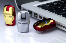!high quality The Avengers sliver/gold Iron man usb flash drive pen drive 4GB 8GB 16GB 32GB pen drive USB creativo S112(China)