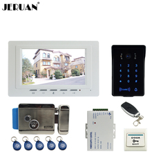 JERUAN luxury 7`` Video Intercom Video Door Phone System new RFID Access Waterproof Touch key Camera+Remote control Unlocked
