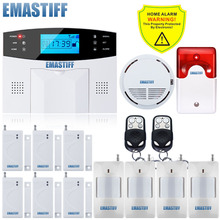 DHL Free Shipping!Flash Siren Upgraded Latest Wireless GSM Alarm system Home Security Alarm Systems English Spanish French Voice(China)