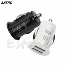 1X Universal Car Charger Dual USB Power Port Adapter Cigarette Lighter Converter For Phones/PDA/MP3/MP4/PMP/GPS(China)
