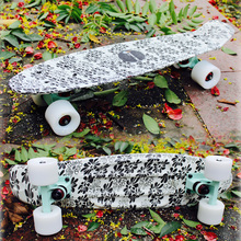 2016 New Peny Board Skateboard Complete Retro Girl Boy Cruiser Mini Longboard Skate Fish Long Board skate wheel Pnny Board 22""