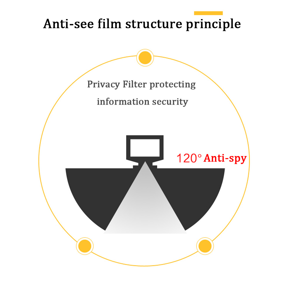 15.6 inch (344mm*194mm) Privacy Filter For 16:9 Laptop Notebook Anti-glare Screen protector Protective film 6