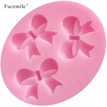 Facemile 3 hole fondant cake silicone bow tie cake cookie decorating tool soap cooking tool silicone bakeware kitchen accessory