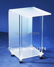 Acrylic night stands with four-wheel Lucite coffee table sofa table Fashion living room bedroom furniture Office desk Tea table(China)