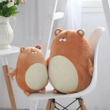 1PC Anime plush toy 30cm 40cm kawaii plush hamster Toys Soft Doll lovely animal Stuffed pillow Kids Christmas Birthday gift