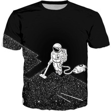 Cool T-shirt Men or Women 3d Tshirt Print hot funny Star Space Vacuum Cleaner Short Sleeve Summer Tops Tees T shirt Fashion