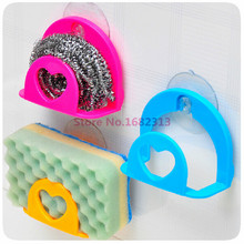 Hot Sucker Dishcloths Storage Kitchen Utensils Gadget Dish Cloth Sponge Suction Cup Wall Box Holder Mount Sink Tub MK-1