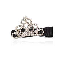 MISM Girls Rhinestone Hair Clips Accessories Perfect Quality Hairgrips for Women Barrettes Tiara Bow Hairpins Children Headwear
