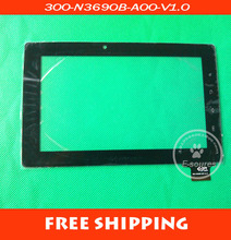 Free shipping touch screen digitizer glass touch panel for Freelander PD10 PD20 tablet pc code 300-N3690B-A00-V1.0 15.5mm