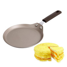 18*34CM Non Stick Copper Frying Pan Kitchen Induction Cooking Oven Safe Fried Pancake Fry Pans Cook No Stick Drop Shipping(China)