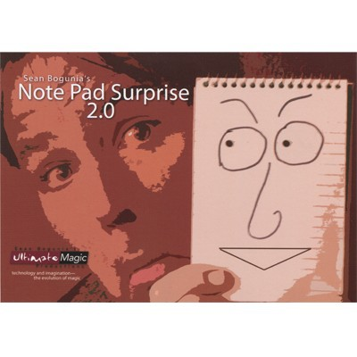 Free Shipping Close up magic props Note Pad Surprise 2.0 Notebook type animation wizard version 2<br>