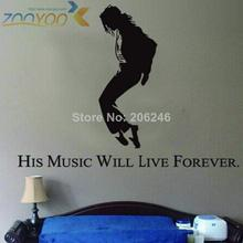 forever king of pop michael jackson wall decals zooyoo7173 home decorations living room removable diy wall stickers bedroom