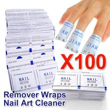 Belen 2015 High Quality 100 Pcs / Lot Gel Polish Remover Wraps Manicure Nail Gel Polish Nail Art Cleaner Drop Shipping(China)