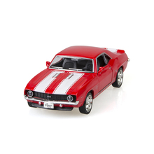 Camaro SS Vintage Diecast Red 1/36 alloy model car Diecast Metal Pull Back Car Toy For Gift Collection(China)